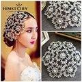 European Vintage Prom Pageant Crown Rhinestone Flower Bridal Headband Bridal Headpiece Tiara Wedding Hair Accessories