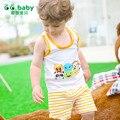 2017 2pcsT-shirt Pantalones Cortos de Algodón Ropa Del Bebé Estilo Bebé Recién Nacido Niño Niños Ropa Conjuntos de Verano de Rayas Roupas Bebes Trajes