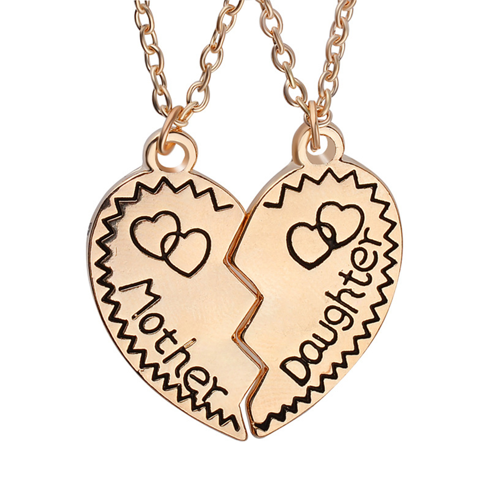 """""""Mother and Daughter Forever"""" Heart Shaped Chain//Necklace /& Pendant Set Gift"""