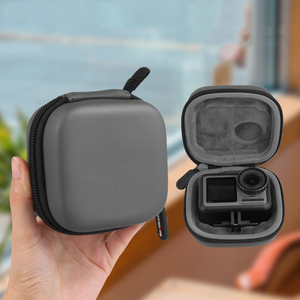Image 3 - Sports camera mini Carrying case protection bag Portable box with D Keychain buckle for dji OSMO ACTION camera Accessories
