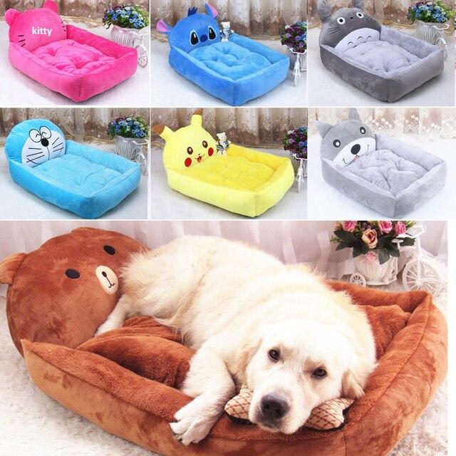 Perro mascota cama Animal dibujos animados en forma de perro casa sofá cachorro franela perrera gato arena mascota gato esteras Cama grande perro alfombra de felpa para Perrera de gato