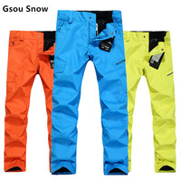 2016 Ski Men S Pant Outdoor Windproof Snowboard Pants Men Snow Trousers Waterproof Thicken Warm Ski