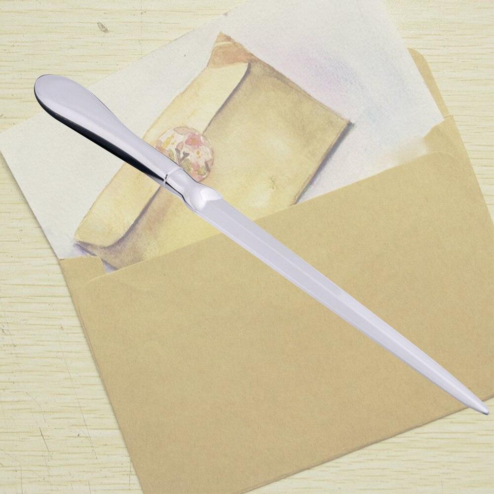 Slitter School Solid Lightweight Stainless Steel Hand Silver Letter Opener Practical Cutter Envelope Knife Universal Office