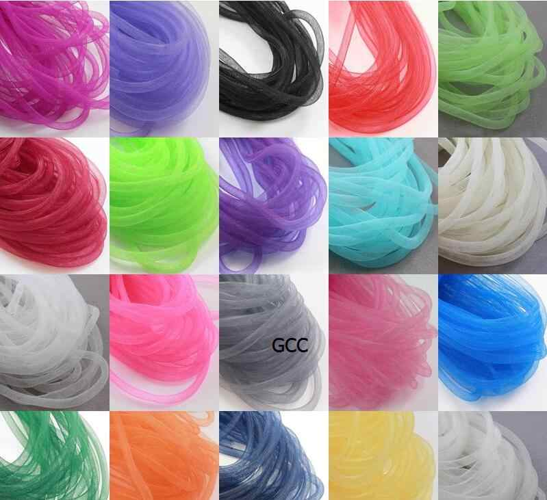 8mm 30yards plaine Tube de Crinoline tubulaire Crin Crin coupe/tresse