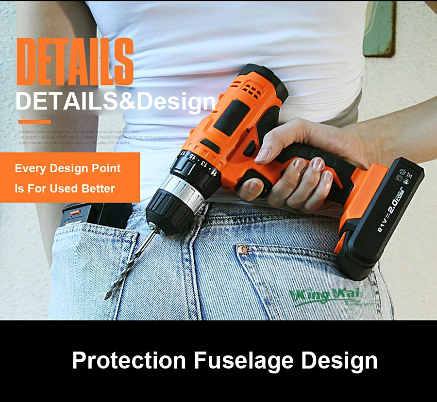 Cordless Lithium Battery Electric Drill-24