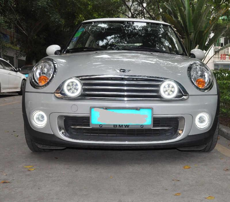 Daytime Running Light Fog Lights For Mini Cooper Cars White Chrome Shell Led Rally Driving