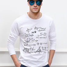 for adult science t shirt Teen Math formula men long sleeve t shirt 2016 new style
