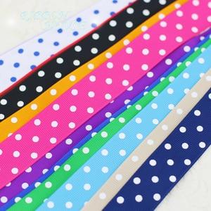Image 2 - (10 yards/lot) Cartoon Polka Dots Printed Grosgrain Ribbon Lovely Series Ribbons Wholesale (22/38mm)