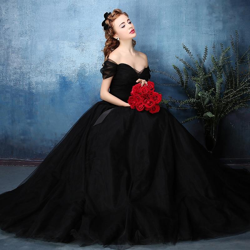 Black Ball Gown Wedding Dresses