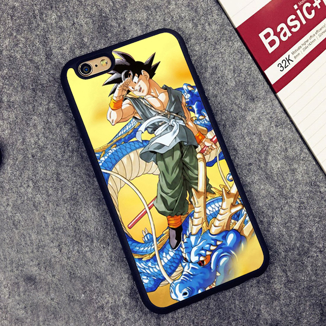 DRAGONBALL Z DBZ SONGOKU Printed Soft Rubber Phone Case OEM For iPhone 6 6S Plus 7 7 Plus 5 5S 5C SE 4 4S