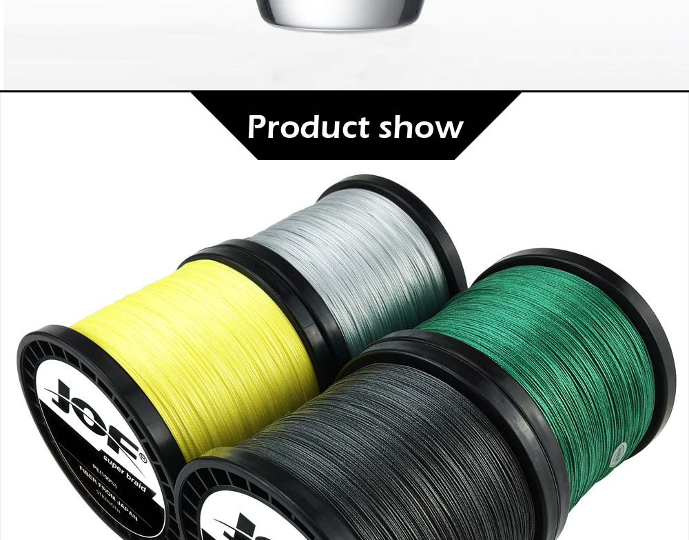 Multicolor 8 Strands 300M 500M 1000M PE Braid Fishing Line Sea Saltwater Fishing Weave 100% SuperPower JOF 21
