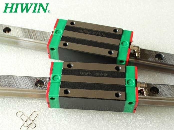1pcs Hiwin linear guide HGR20-200MM + 2pcs HGH20CA linear narrow blocks for cnc 1pcs hiwin hgr20 linear guide rail 2000 mm 2pcs hgh20ca for custom length cnc kit