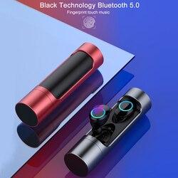 X8 Touch Control TWS Bluetooth 5.0 słuchawki Mini bezprzewodowe słuchawki słuchawki sportowe zestaw słuchawkowy z mikrofonem IPX7 wodoodporne słuchawki douszne