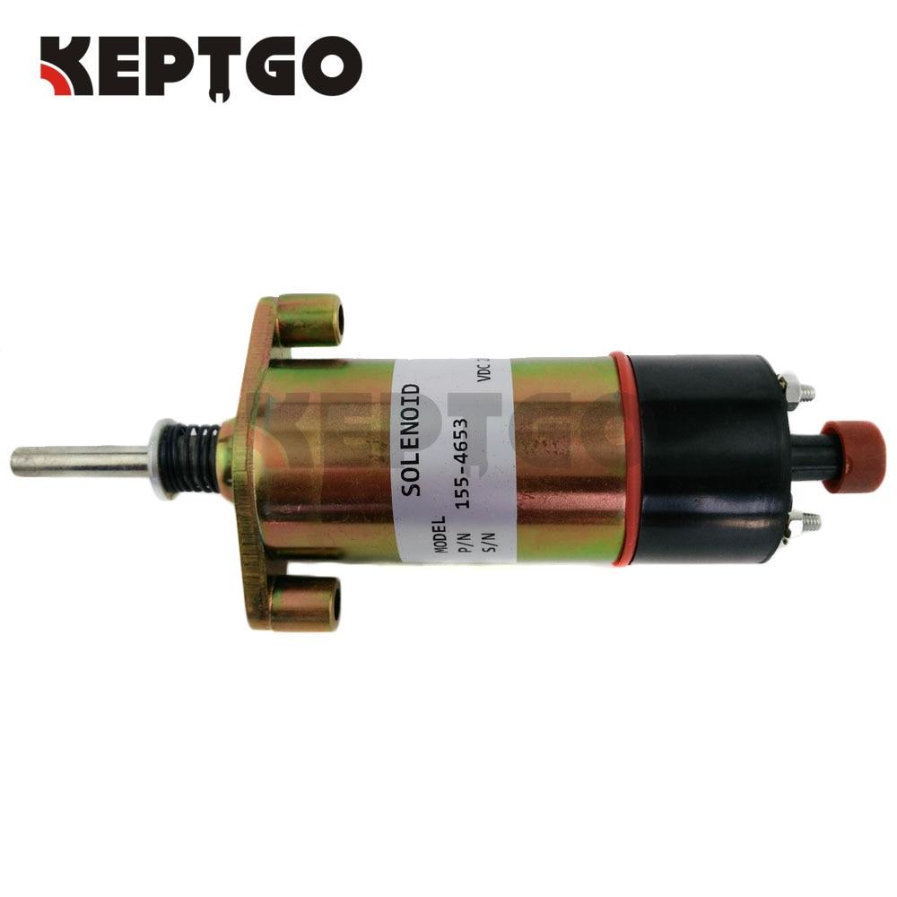 155-4653 3E-7985 24V Fuel Shutoff Solenoid Valve For CAT3306 E330/330B/330C 3924450 2001es 12 fuel shutdown solenoid valve for cummins hitachi