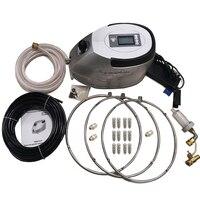 F051 0.3L/мин туман насос с светодио дный Дисплей и таймер Управление для затуманивания охлаждения Системы, 0.3L насос + 3 шт. SS вентилятор кольцо +