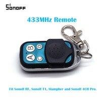 Sonoff 433MHz RF Wireless Remote Controller Wireless Touch Remote Controller RF Switch 4CH Pro Electric Remote Control Car Key