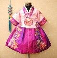 2016 Nueva Étnico Hmong Ropa Trajes Nacionales de Los Niños de Corea Del Bebé Ropa del Funcionamiento Infantil Corea Princesa Vestido