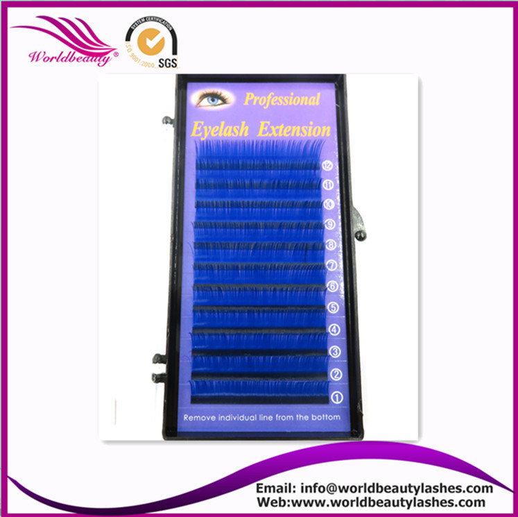 New Products,0.07 J/B/C/D curl 8-13mm each length 2 lines Blue color Eyelash Extension ,Fashion False eyelashes