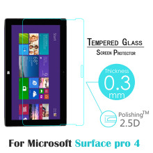"For Microsoft Surface Pro 4 12.3"" Tablet PC Ultrathin Premium Explosion-Proof Tempered Glass Screen Protector Film"
