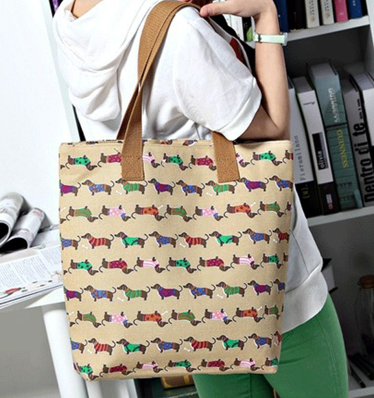 20% off High quality denim shoulder bag street fashion Women fashion handbag casual dachshund dog bags