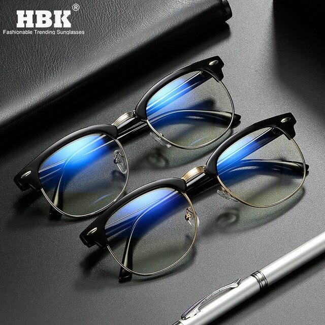 Classic Anti Blauw Licht Computer Brilmontuur Mannen Vrouwen Gaming Lezen Blue Ray Blokkeren Brillen Ultralight Frame Eyewear