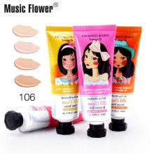 50ml Music Flower bb Cream Face Base Liquid Foundation Make Up Concealer Moisturizing Whitening Cosmetics Korea bb CC Cream best korea cosmetic lioele dollish veil vita bb spf25 pa 50ml bb cream concealer moisturizing foundation makeup cc cream