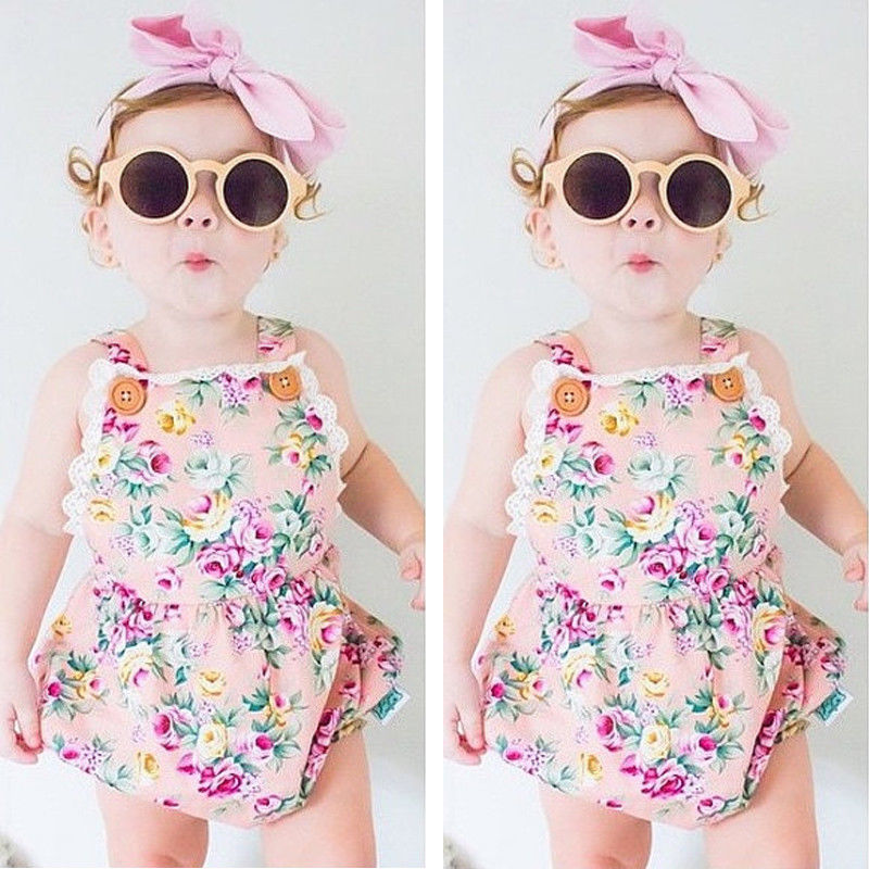 da7ef858325 NEW ARRIVAL Infant Kids Rompers Toddler Baby Girl Clothing Strap Flower  Casual Cute Backless Jumper Romper Jumpsuit Summer 2016-in Rompers from  Mother ...