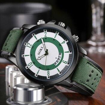 0c91e37d9abe SOKI de los hombres relojes de moda gran Dial calendario exfoliante militar  reloj hombre relojes de hombre 2019