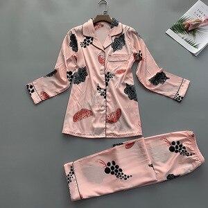 Image 3 - Letnie kobiety koszula spodnie piżamy zestawy bielizna nocna pani odzież domowa dwa piec koszula nocna garnitur szlafrok Sleepshirts M XL