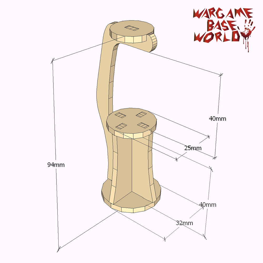 Wargame Base World - - Figure Holder For Painting And Sculpting