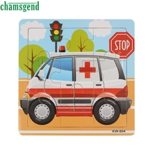 High Quality Ambulance Wooden Kids Children Jigsaw Education And Learning Puzzles Toys Aug12