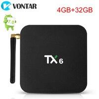 TX6 Allwinner H6 4 ГБ 32 ГБ 4 ГБ 64 ГБ Android 9,0 поддержка ТВ-коробок 4 K двойной WiFi BT4.1 Youtube Netflix Smart tv box PK X96mini