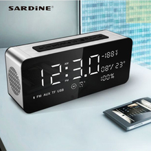 Latest Sardine A10 bluetooth speaker 5000mAh transportable alarm clock MP3 speaker 52mm horn massive sound for get together TF card USB FM radio