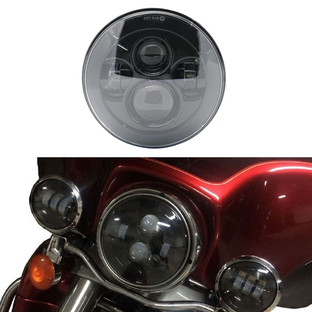 Flstc Flstf Bakuis 7 Inch Motor Projector Led Headlamp Headlight For Harley Fls Flstfbs And Flstn 91-later Flss Flstfb