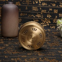 Chinese Traditional 1piece Copper Healthy Moxibustion Box For Body Cupoint Dredge Meridian Chinese Medicine For Pain