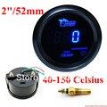 """2 """"52mm Azul Digital LED Oil Temp Medidor de Temperatura com sensor Eletrônico"""