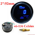 "2"" 52mm Digital Blue LED Electronic Oil Temp Temperature Gauge with sensor"