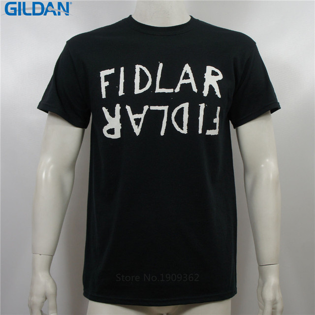 Online T Shirts Design Gildan O-Neck Short Sleeve Fidlar Band Flipped Name Logo Skate Punk Funny Mens T Shirt