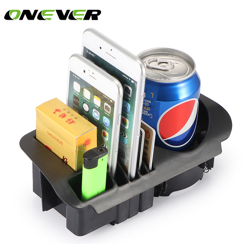 Onever car central storage box cup cell phone drink holder for Mercedes benz cell phone cradle