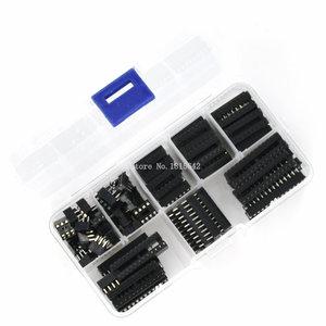 Image 3 - 66PCS/Lot DIP IC Sockets Adaptor Solder Type Socket Kit 6,8,14,16,18,20,24,28 pins New