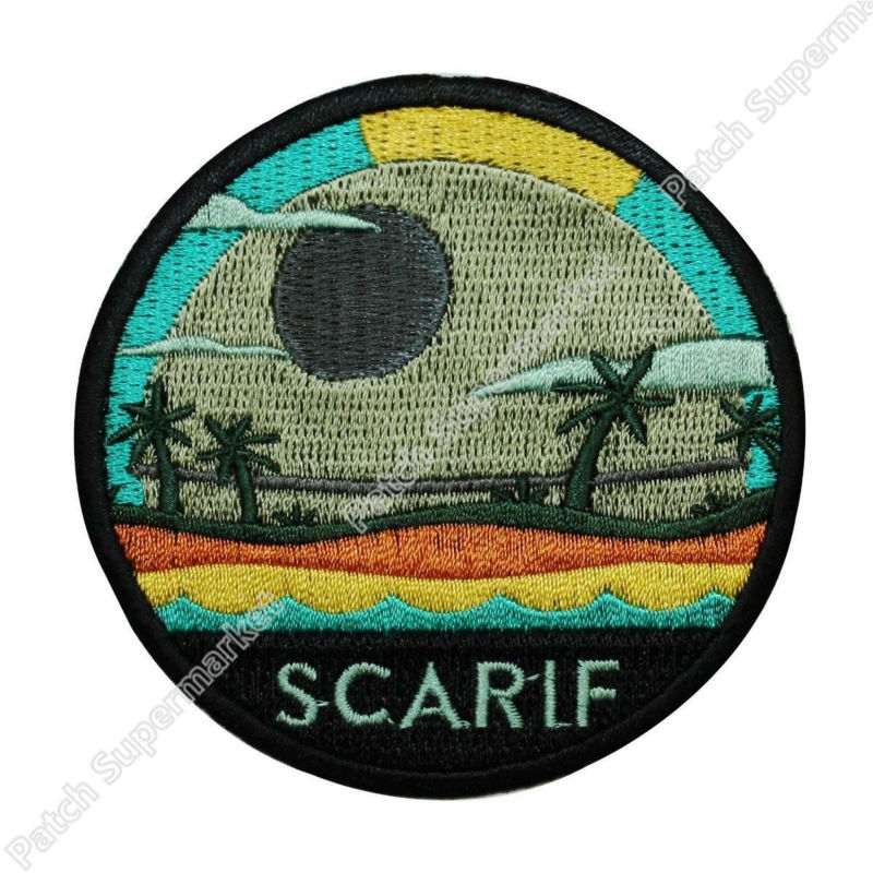 Star Wars Rogue One Planet Scarif Iron On Patch Fan Memorabilia Craft Applique TV film Embroidered