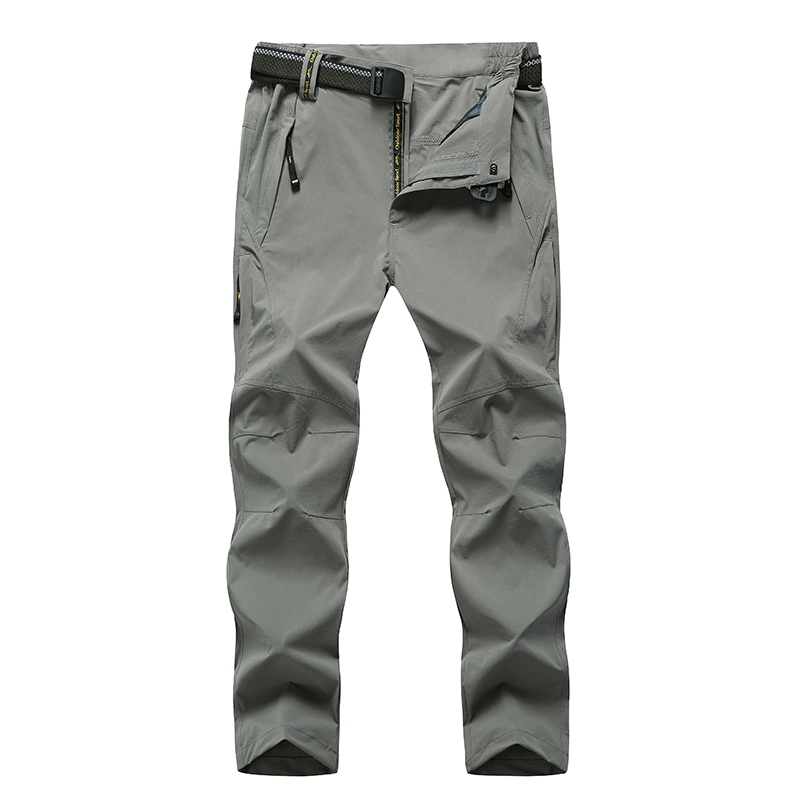 <font><b>6XL</b></font> 7XL 8XL Big Size <font><b>Men</b></font> Hiking Camping Pants Windproof Quick Dry Outdoors Soft Shell Trousers Trekking Hiking Sweatpants image