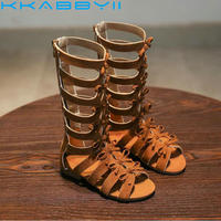 Hot Sell Summer Boots High Top Fashion Roman Girls Sandals Kids Gladiator Sandals Toddler Baby Sandal