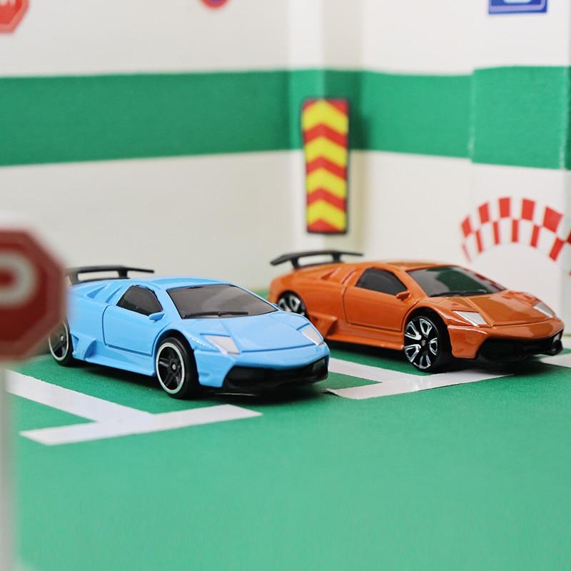 164 alloy car model kids toys lamborghini 570 sports car family small ornaments children