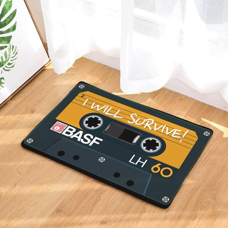 Nostalgia Classic Magnetic Tape Rectangular Mats Modern Entrance Doormats Dust-Proof Kitchen Carpet 40*60mm 50*80mm Bath Mat