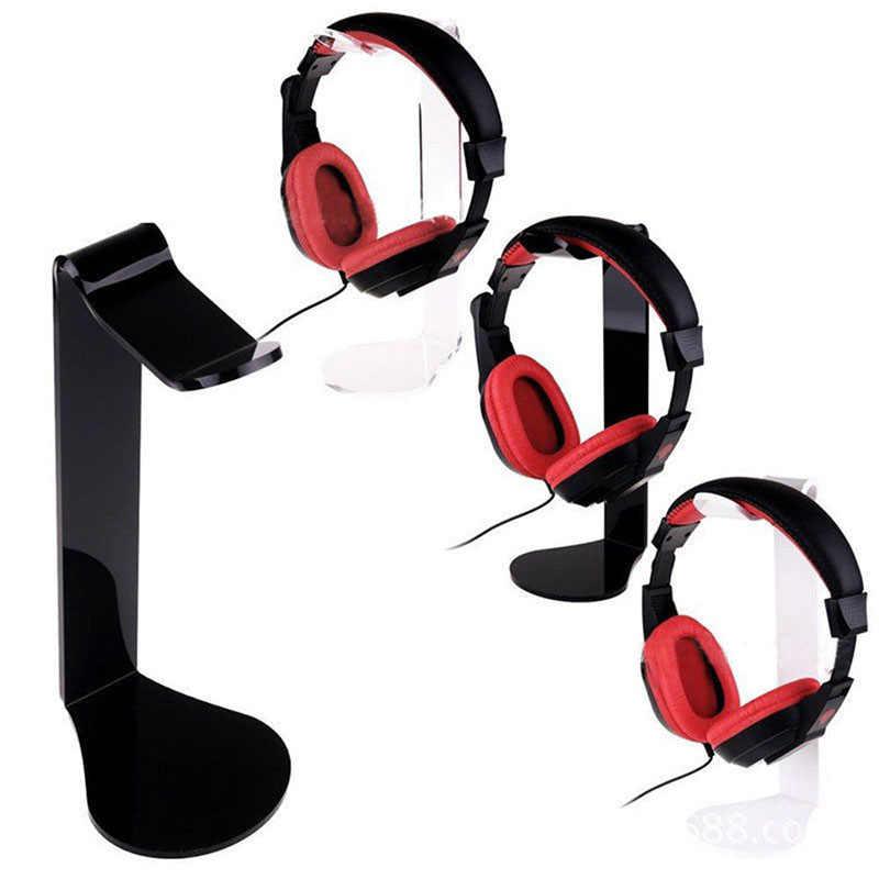 Universal Headphone Support Stand Holder Gaming Earphone Acrylic Hanger Earbuds Bracket Internet Cafe Desk Mount Display Rack