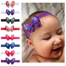 1 Piece Headwrap Baby Headbands Headwear Girls Hair Hairband Bow Tie Head Band Infant Newborn(China)