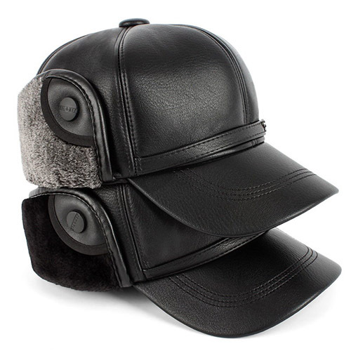 New TOP The elderly hat male winter ear protector cap old man hat winter baseball cap cotton cap thickening