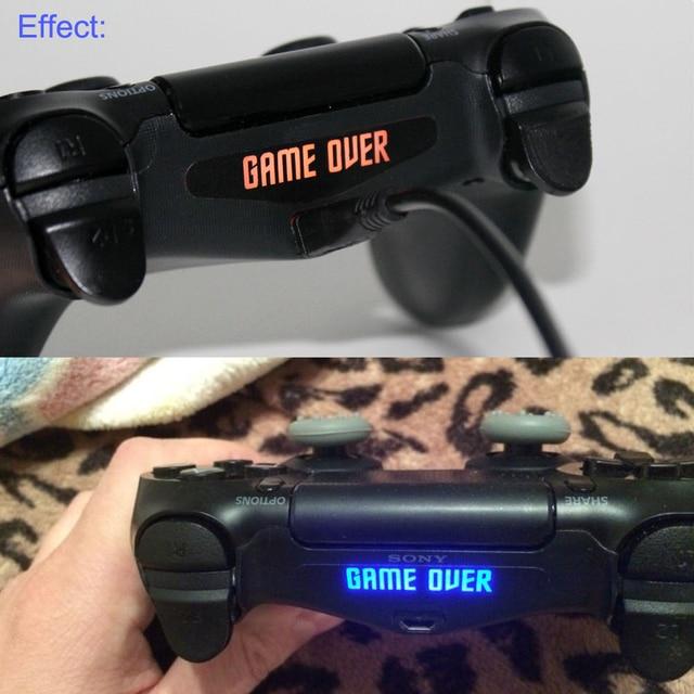 10pcs/20pcs/40pcs Custom Game Light Bar Protect Skin for PlayStation4 PS4 LED Light Bar Cover Decal Skin Sticker Controller 2