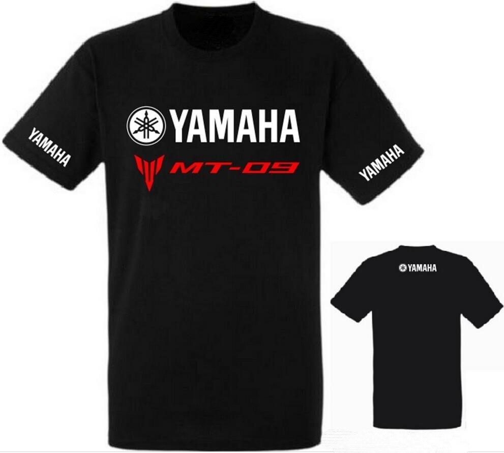 Black yamaha t shirt - 2017 Brand Summer New Yamaha Mt 09 T Shirt Men Short Sleeve 100 Cotton